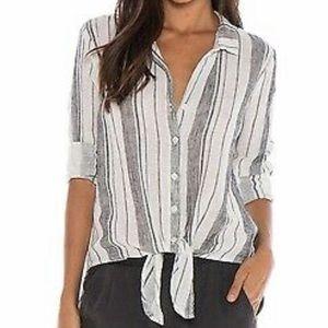 Cloth & Stone Striped Tie Top